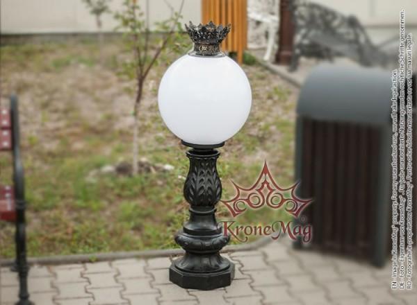 Kültéri Díszvilágítási Öntöttvas Kisoszlop SI-982 GLOB 400 KING