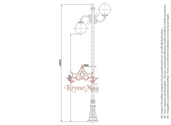 Közvilágítási Öntöttvas Kandeláberek BL132-2C
