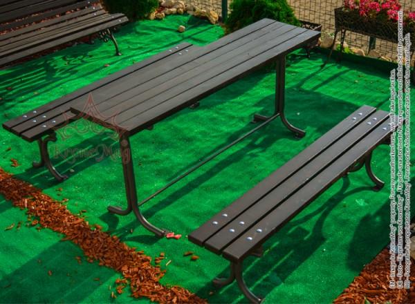 Kerti asztal és pad garnitúra INEU.2-OR