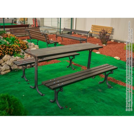 Kerti asztal és pad garnitúra INEU.2