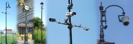 CCTV Óra Tartóoszlopok