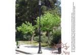 Köztéri Parki Fém - Öntöttvas Lámpaoszlop Kandeláber M28